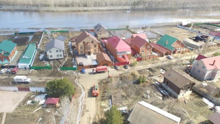 Паводок в Башкирии: за сутки подтопленных  дворов и домов нет