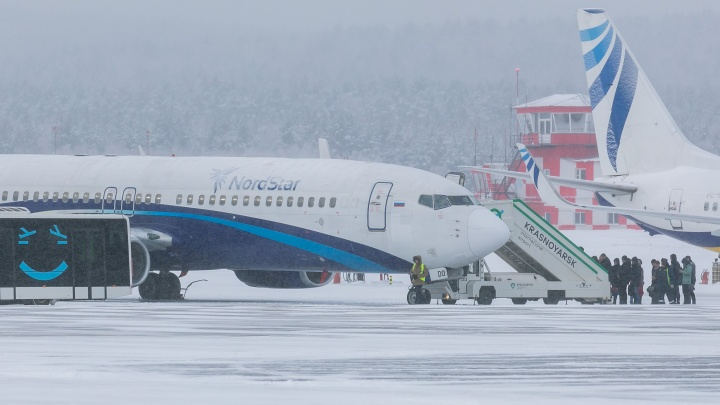 Круживший над Красноярском «Боинг» из-за сработавшего датчика сел в аэропорту