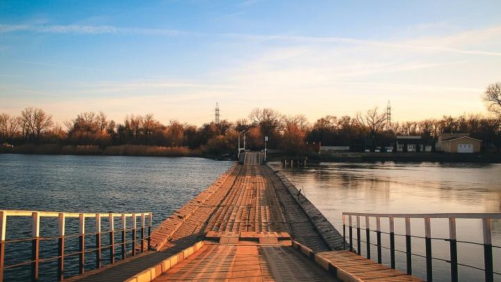 Власти Ростова собираются построить постоянный мост к Зеленому острову взамен понтонного