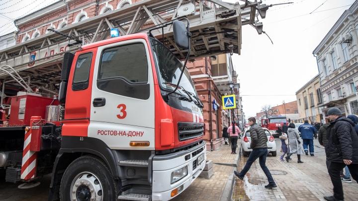 Огненное утро: в центре Ростова в многоквартирном доме произошел пожар