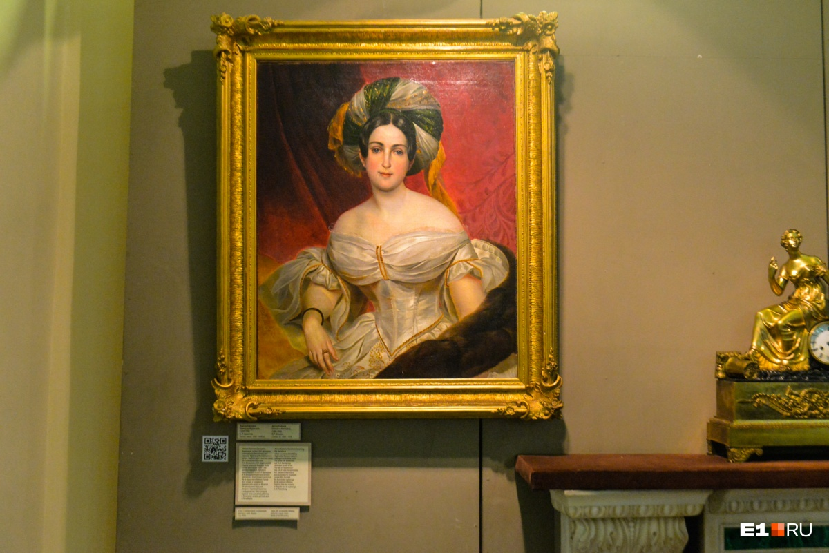 На портрете кисти Карла Брюллова — сама роковая красавица, фрейлина императрицы Аврора Демидова (Шернваль)