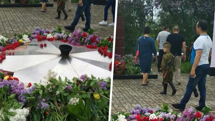 В Белой Калитве Вечный огонь потух в День Победы