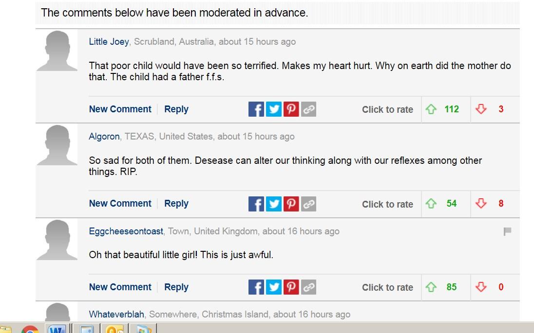 Комментарии читателей Daily Mail