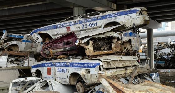 Мечта штрафника: фоторепортаж с кладбища патрульных машин полиции и ГИБДД в Екатеринбурге