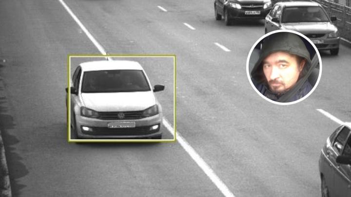 Подозреваемый в убийстве Ксении Каторгиной насобирал штрафов в Екатеринбурге на похищенной машине