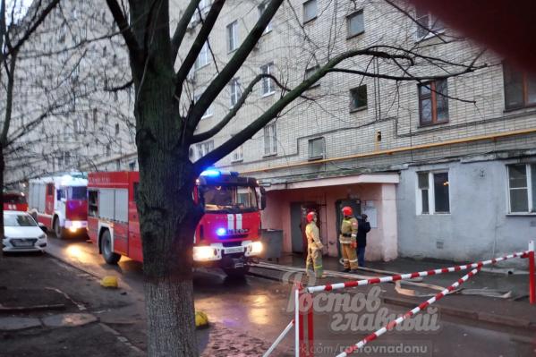 Ростовчане предположили, что причиной пожара стала неисправная проводка