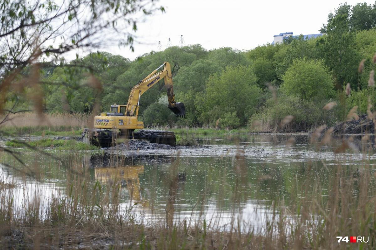 Подрядчик подтвердил, что на реке начались подготовительные работы по очистке