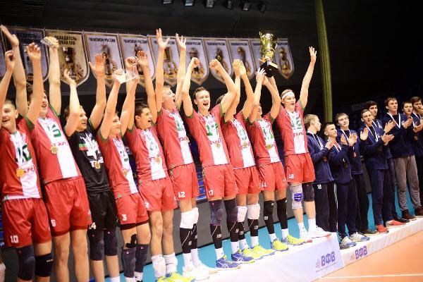 Волейбол: «Локомотив-ЦИВС» обыграл «Белогорье-2» и стал чемпионом Молодежной лиги