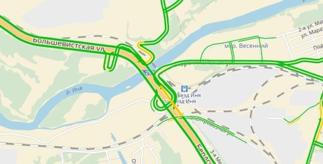 Светофоры отключили на разъезде Иня до 16:00