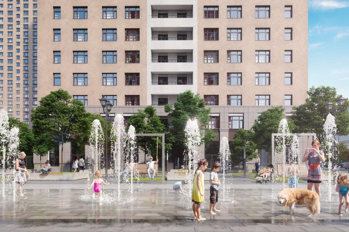 Центральная площадь станет излюбленным местом прогулок всех жителей квартала