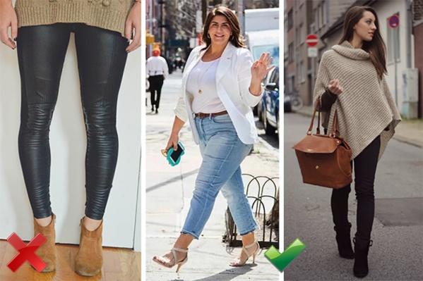 Только женщина с бесконечными ногами может позволить себе визуально укоротить их на 10 см сочетанием светлых ботинок и темных брюк