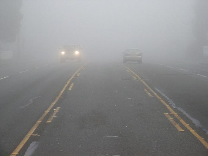 Кузбасских водителей предупредили об опасном тумане на дорогах