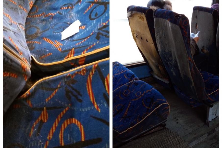 Мужчину удивили изношенные чехлы на сиденьях и грязь