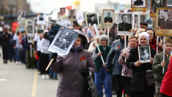 В Новосибирске началось шествие «Бессмертного полка»