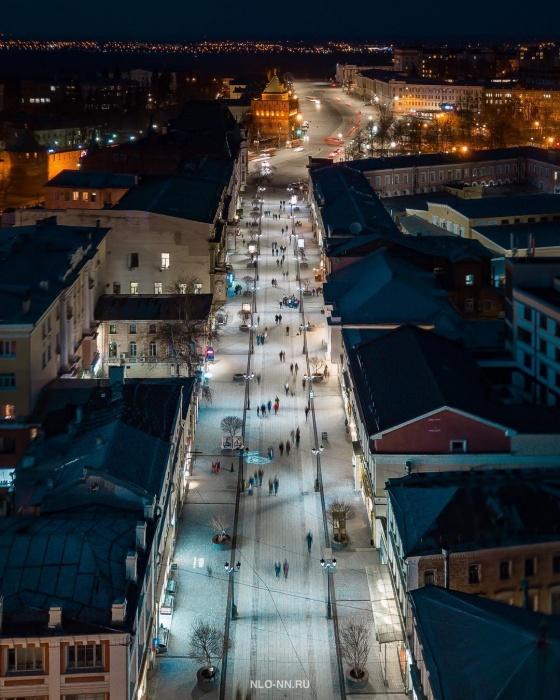 Вечерние огни центра Нижнего Новгорода