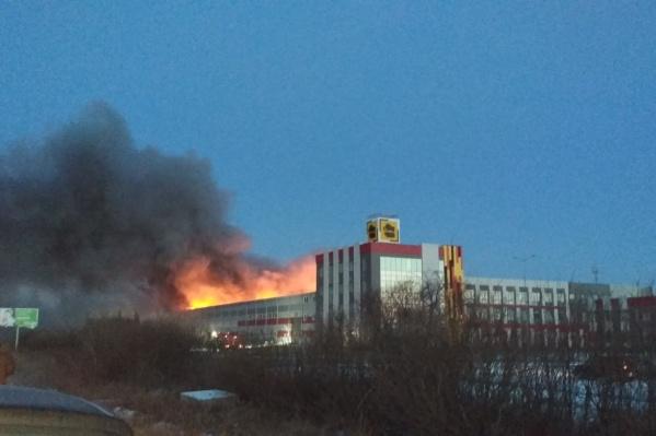 Окрестности завода окутал густой дым