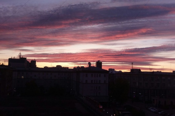 Солнце взошло над Новосибирском в 7:37