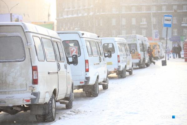 За три года в Новосибирске стало на 300 маршруток меньше