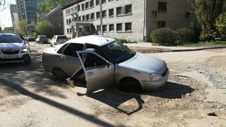 «Там проваливаются машины»: в Самаре рассказали, когда начнется ремонт на улице Печерской