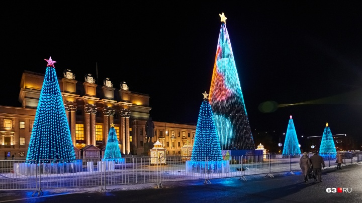В Самаре в новогоднюю ночь перекроют улицы около площади Куйбышева