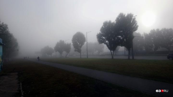 Пугающий и прекрасный: из-за густого тумана в Самаре сдвинулось расписание речных судов