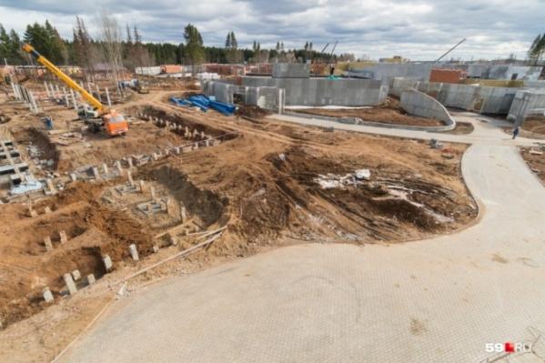 Новый зоопарк начали строить еще в 2017 году в микрорайоне Нагорный. Для этого выбрали часть парка Победы