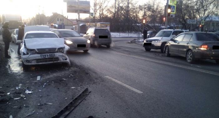 Авария произошла в 17:00