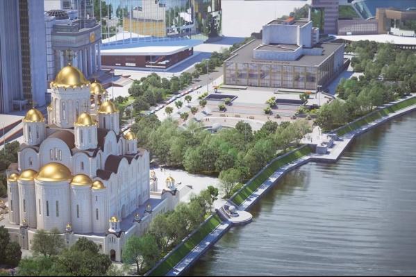Так выглядит проект храма в сквере у Театра драмы
