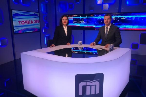 Владимир Волков ответил на вопросы телеведущей Юлии Тихомировой