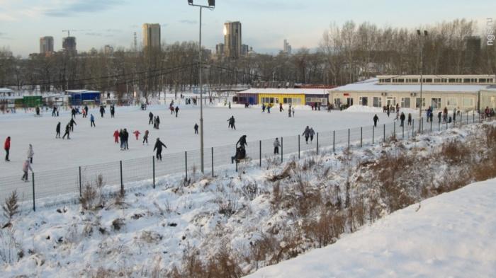 На Татышеве закрыли каток из-за морозов