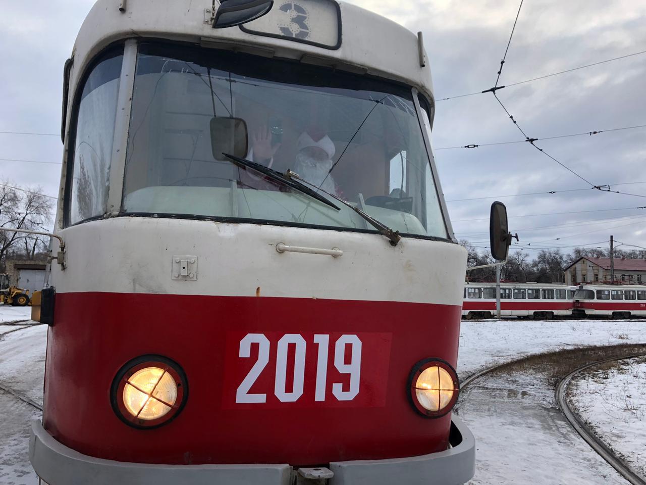 Вагонам трамвая присвоили символичные номера