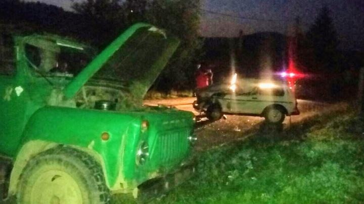 На трассе в Башкирии столкнулись грузовик и «Нива»: погиб водитель легковушки