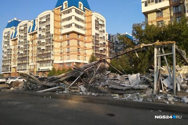 Павильоны на «Городке» снесли в конце прошлой недели