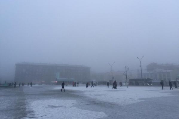 Туманы в Новосибирск пришли из-за высокого давления