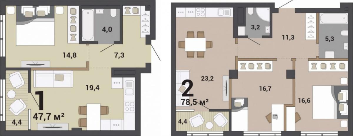 В таких квартирах хозяин может сделать «двигающиеся» стены, чтобы в любой момент менять пространство