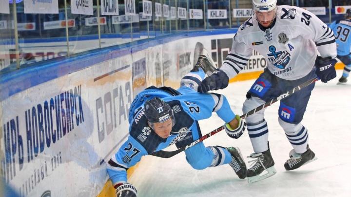 Хоккей: «Сибирь» в тяжёлой схватке уступила «Адмиралу»