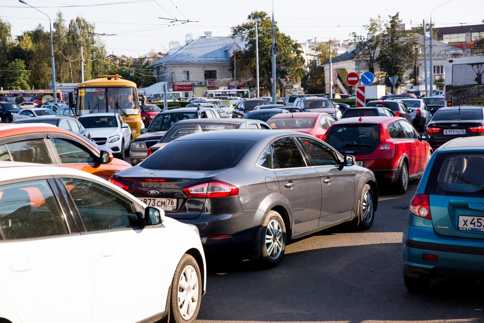 В Ярославле количество автомобилей растёт с каждым годом