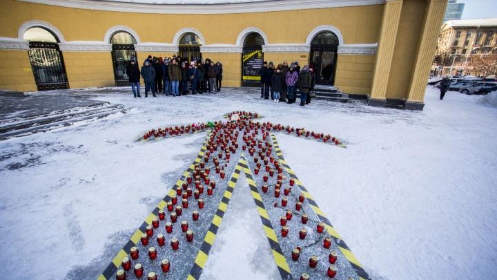 На улице Ленина появился силуэт погибшего в аварии человека