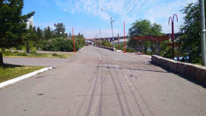 Набережную в центре Красноярска превращают в дорогу