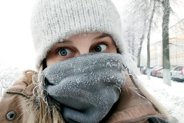Этой ночью мороз будет щипать щёки