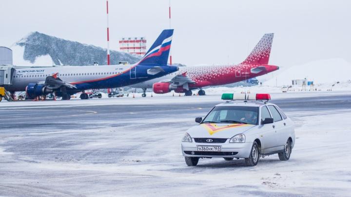 В Курумоче полиция сняла с самолета в Турцию курильщика