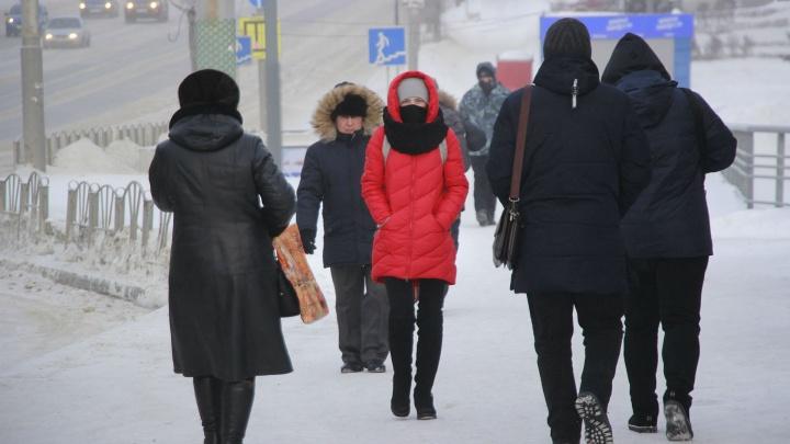 Прячемся от холода: смотрим на жизнь Омска в тридцатиградусный мороз
