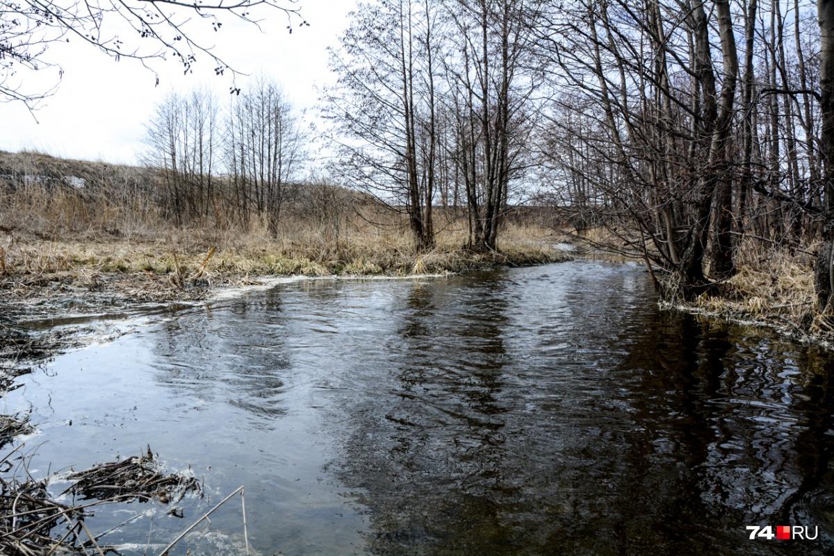 Над поверхностью воды уровень нормальный