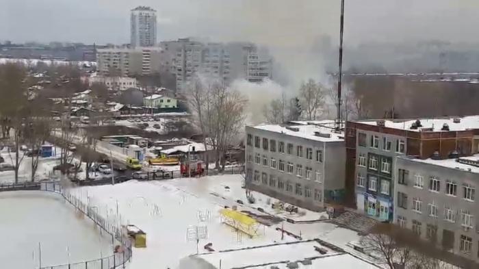 Столб дыма был виден издалека