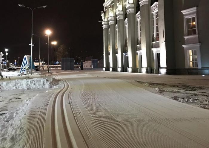 Так выглядит лыжная трасса