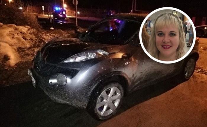 Женщина ехала на этой машине и в момент ДТП была сильно пьяна