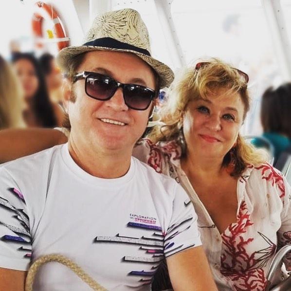 Алексей с женой и музой Галиной