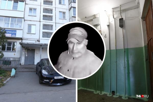 Нападавшего сняли камеры наблюдения домофона в доме на проспекте Победы