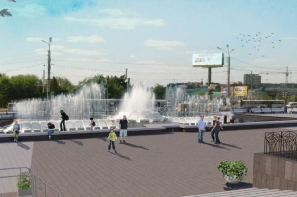 Эскиз реконструкции Театральной площади