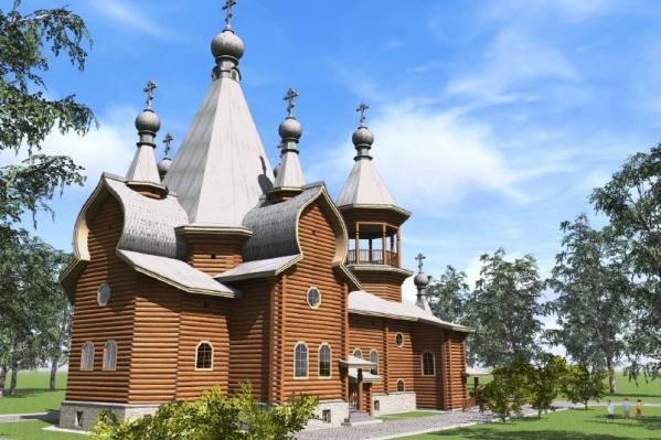 Проект храма, который отправится в Канаду